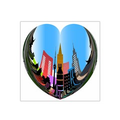 Heart Shape City Love  Satin Bandana Scarf