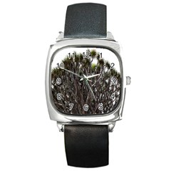 Inflorescences Square Metal Watch