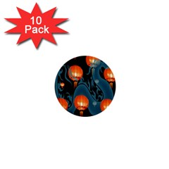 Lampion 1  Mini Buttons (10 pack)