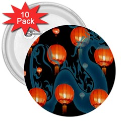 Lampion 3  Buttons (10 pack)
