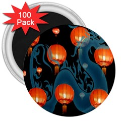 Lampion 3  Magnets (100 pack)