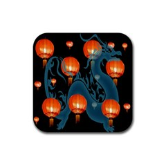Lampion Rubber Square Coaster (4 pack)