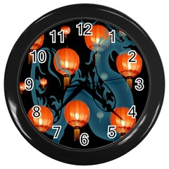 Lampion Wall Clocks (Black)
