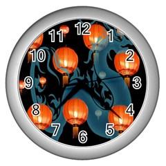 Lampion Wall Clocks (Silver)