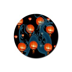 Lampion Rubber Coaster (Round)