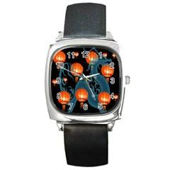 Lampion Square Metal Watch