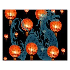 Lampion Rectangular Jigsaw Puzzl