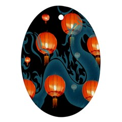 Lampion Oval Ornament (Two Sides)