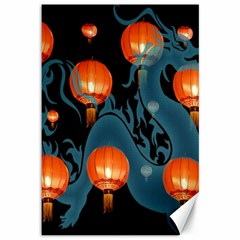 Lampion Canvas 12  x 18