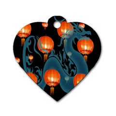 Lampion Dog Tag Heart (One Side)