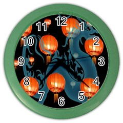 Lampion Color Wall Clocks