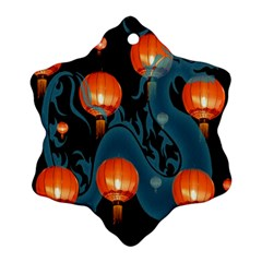 Lampion Snowflake Ornament (2-Side)