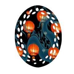 Lampion Ornament (Oval Filigree)