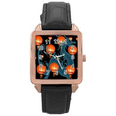 Lampion Rose Gold Leather Watch