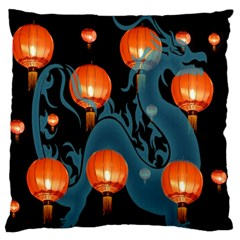 Lampion Large Flano Cushion Case (Two Sides)