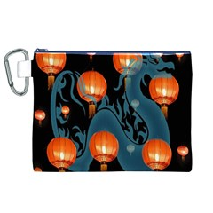 Lampion Canvas Cosmetic Bag (XL)