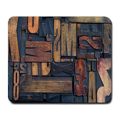 Letters Wooden Old Artwork Vintage Large Mousepads