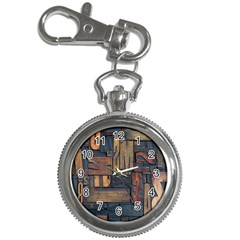 Letters Wooden Old Artwork Vintage Key Chain Watches