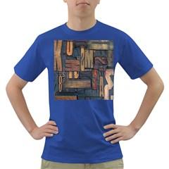 Letters Wooden Old Artwork Vintage Dark T-Shirt