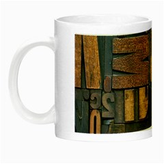 Letters Wooden Old Artwork Vintage Night Luminous Mugs