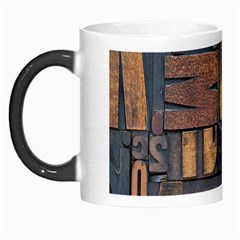 Letters Wooden Old Artwork Vintage Morph Mugs