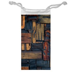 Letters Wooden Old Artwork Vintage Jewelry Bags