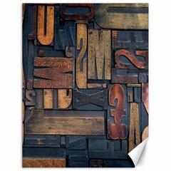 Letters Wooden Old Artwork Vintage Canvas 18  x 24