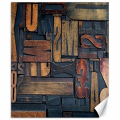 Letters Wooden Old Artwork Vintage Canvas 20  x 24