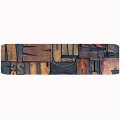 Letters Wooden Old Artwork Vintage Large Bar Mats