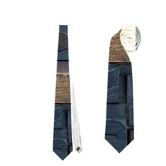 Letters Wooden Old Artwork Vintage Neckties (Two Side)