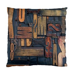Letters Wooden Old Artwork Vintage Standard Cushion Case (One Side)
