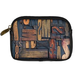 Letters Wooden Old Artwork Vintage Digital Camera Cases