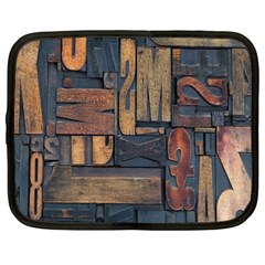 Letters Wooden Old Artwork Vintage Netbook Case (XXL)