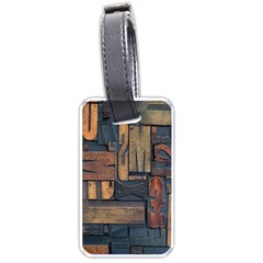 Letters Wooden Old Artwork Vintage Luggage Tags (One Side)