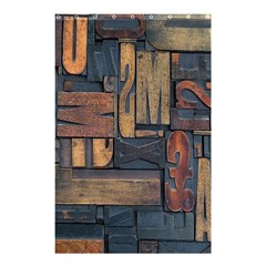 Letters Wooden Old Artwork Vintage Shower Curtain 48  x 72  (Small)