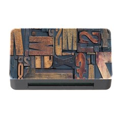 Letters Wooden Old Artwork Vintage Memory Card Reader with CF