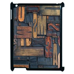 Letters Wooden Old Artwork Vintage Apple iPad 2 Case (Black)