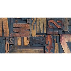 Letters Wooden Old Artwork Vintage YOU ARE INVITED 3D Greeting Card (8x4)