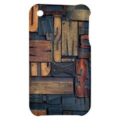 Letters Wooden Old Artwork Vintage Apple iPhone 3G/3GS Hardshell Case