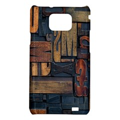 Letters Wooden Old Artwork Vintage Samsung Galaxy S2 i9100 Hardshell Case
