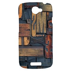 Letters Wooden Old Artwork Vintage HTC One S Hardshell Case