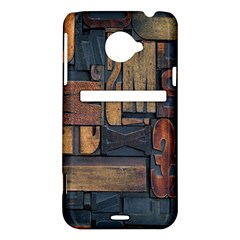 Letters Wooden Old Artwork Vintage HTC Evo 4G LTE Hardshell Case