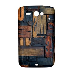 Letters Wooden Old Artwork Vintage HTC ChaCha / HTC Status Hardshell Case