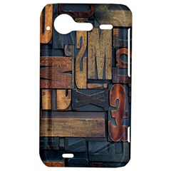 Letters Wooden Old Artwork Vintage HTC Incredible S Hardshell Case