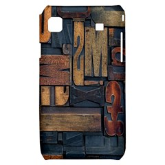 Letters Wooden Old Artwork Vintage Samsung Galaxy S i9000 Hardshell Case