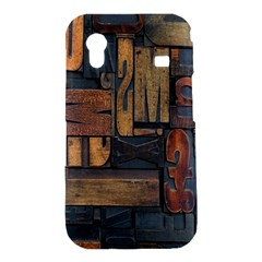 Letters Wooden Old Artwork Vintage Samsung Galaxy Ace S5830 Hardshell Case