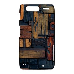 Letters Wooden Old Artwork Vintage Motorola Droid Razr XT912