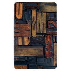 Letters Wooden Old Artwork Vintage Kindle Fire (1st Gen) Hardshell Case