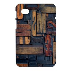 Letters Wooden Old Artwork Vintage Samsung Galaxy Tab 7  P1000 Hardshell Case