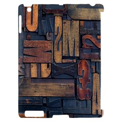 Letters Wooden Old Artwork Vintage Apple iPad 2 Hardshell Case (Compatible with Smart Cover)